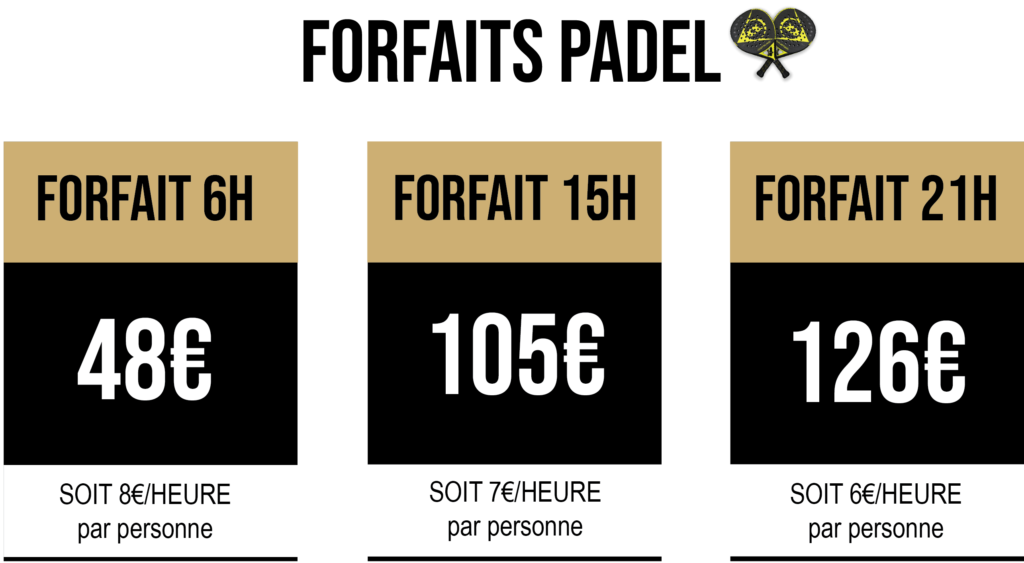 Forfait Padel Tennis